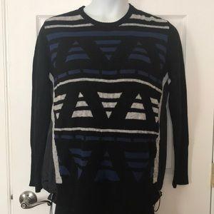 NWT Banana Republic black jacquard pullover